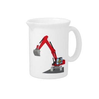 red chain excavator pitcher