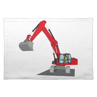 red chain excavator placemat