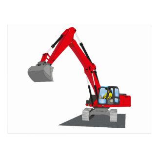 red chain excavator postcard