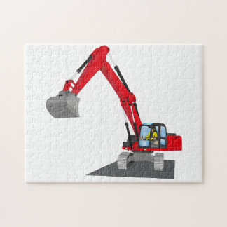 red chain excavator puzzles