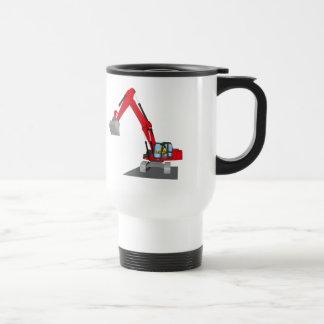 red chain excavator travel mug