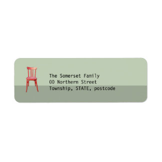 Red Chair green Return Address Label