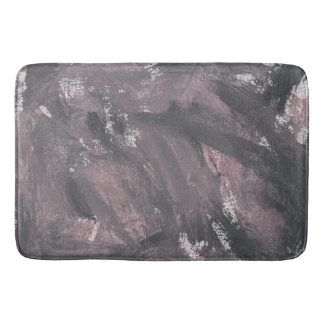 Red Chalk and Black Ink Bath Mat