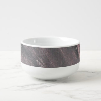 Red Chalk and Black Ink Soup Bowl With Handle