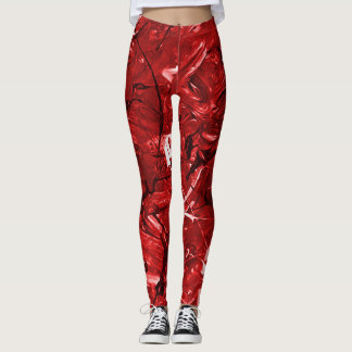 Red Chaos Leggings