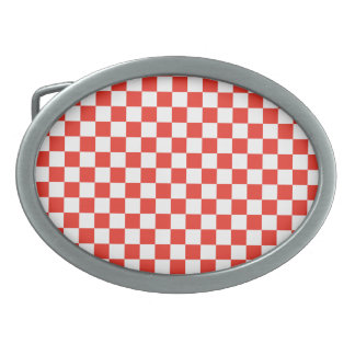 Red Checkerboard Belt Buckles