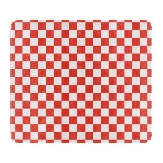 Red Checkerboard Cutting Board