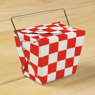 Red Checkerboard Favour Boxes