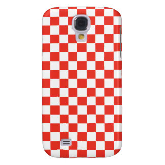 Red Checkerboard Galaxy S4 Covers