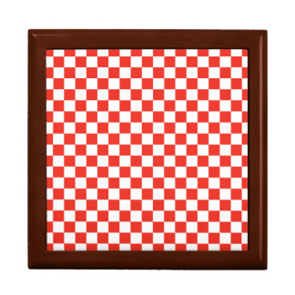 Red Checkerboard Gift Box