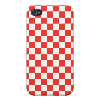 Red Checkerboard iPhone 4 Cover