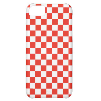 Red Checkerboard iPhone 5C Case