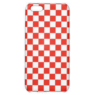 Red Checkerboard iPhone 5C Cover