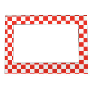 Red Checkerboard Magnetic Frame