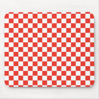 Red Checkerboard Mouse Pad