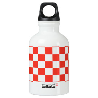 Red Checkerboard SIGG Traveller 0.3L Water Bottle