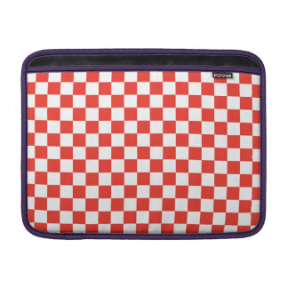 Red Checkerboard Sleeve For MacBook Air