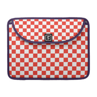 Red Checkerboard Sleeve For MacBooks
