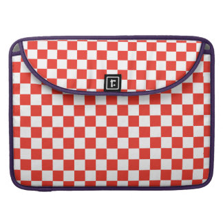 Red Checkerboard Sleeves For MacBooks