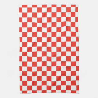 Red Checkerboard Tea Towel