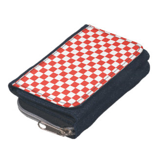 Red Checkerboard Wallet
