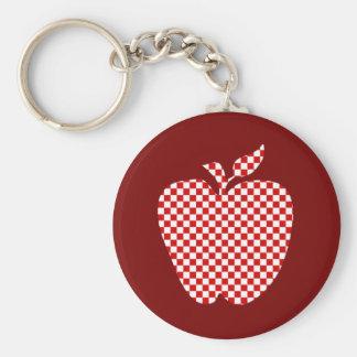 Red Checkered Apple Teacher's Key Chain