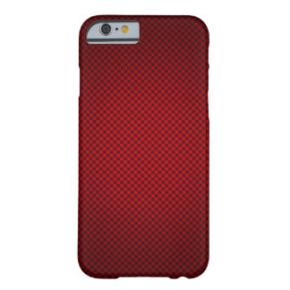 Red Checkered Barely There iPhone 6 Case
