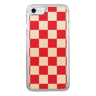 Red Checkered Carved iPhone 8/7 Case