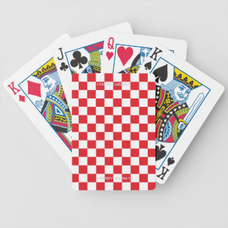 Red checkered flag bicycle playing cards