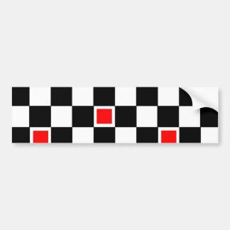 Red Checkers Car Bumper Sticker