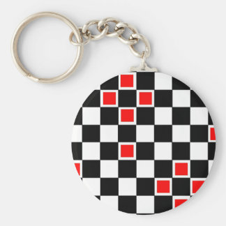 Red Checkers Keychains