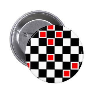 Red Checkers Pin