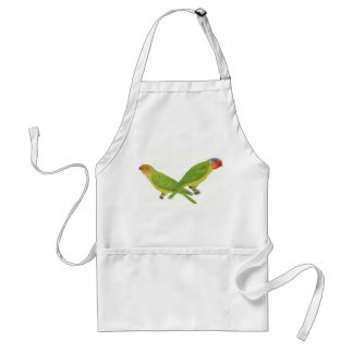 Red-Cheeked Parrot Pair Adult Apron