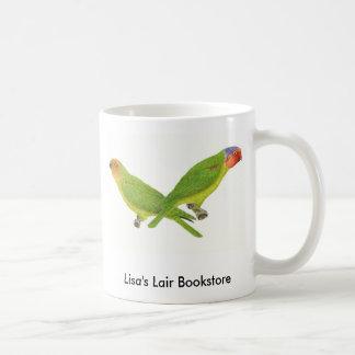 Red-Cheeked Parrot Pair Bookstore Promo Basic White Mug