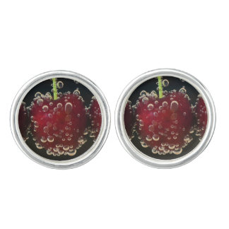 Red cherries in the water cuff links