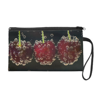 Red cherries in the water wristlet