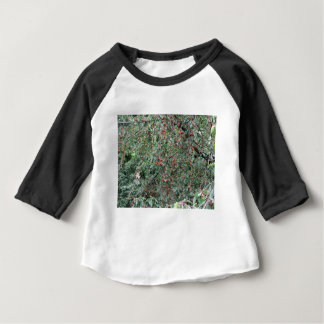 Red cherries on tree in cherry orchard baby T-Shirt