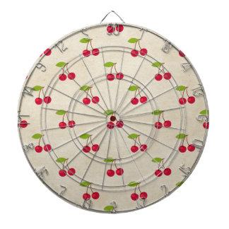 Red Cherries Tiny Cherry Print Rustic Vintage Dart Boards