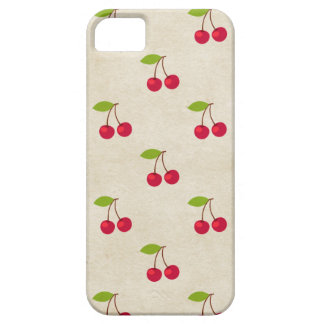 Red Cherries Tiny Cherry Print Rustic Vintage iPhone 5 Covers