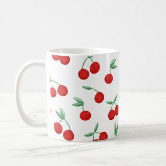 Red Cherries Watercolor Coffee Mug Cherry Bomb