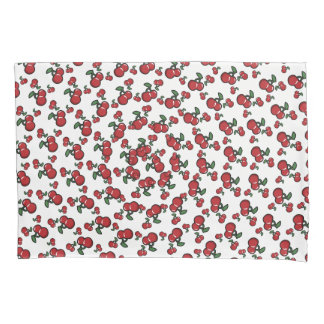 Red Cherries & White (Any Color) Cute Fruit Pillowcase