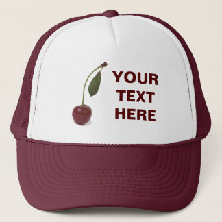 Red cherry berry and your text trucker hat