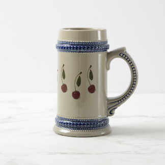 Red cherry berry beer stein
