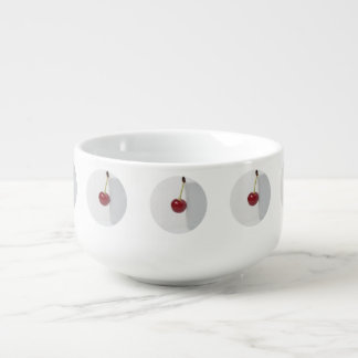 Red Cherry Berry Soup Mug