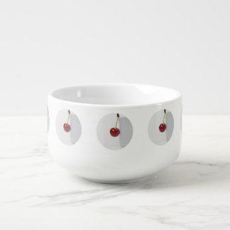 Red Cherry Berry Soup Mug
