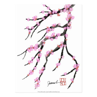Red Cherry Blossom 32, Tony Fernandes Postcard