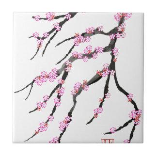 Red Cherry Blossom 32, Tony Fernandes Tile