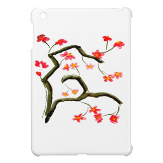 Red Cherry Blossoms accent Case For The iPad Mini