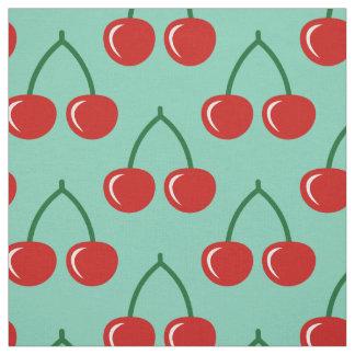 Red cherry print pattern DIY textile fabric