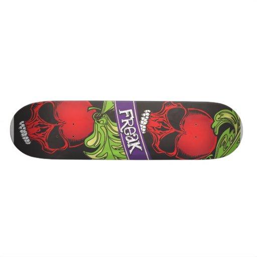 Red Cherry Skulls Freak Skateboard